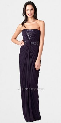 Strapless Drape Knot Center Gown by Adrianna Papell_1