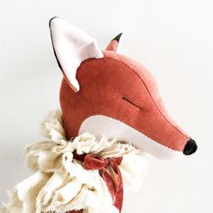 Please read carefully all the information, including shipping and general terms and conditions before purchasing.Handmade in Norway.One of a kind large Fox doll, made from dusty reddish pink ve...