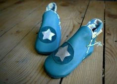 Blue boots - Eco leather slippers by Madkouch