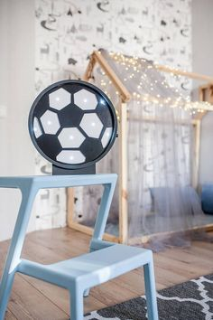 Football lamp - Soccer ball light - Football Night light - Soccer ball lamp - Baby boy nursery - Gift for him Baby Boy Nursery Themes, Baby Boy Room Decor, Baby Shower Decorations For Boys, Baby Boy Nurseries, Nursery Decor, Baby Boy Soccer, Soccer Ball, Diy Seat Covers, Decorative Night Lights