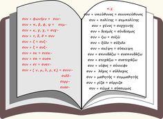 συνθετες λεξεις με πρωτο συνθετικο το συν Word Search, Personalized Items, Words, School, Schools