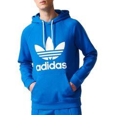 adidas Originals Men's Trefoil Hoodie, Size: Small, Blue