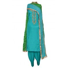Pretty celadon green unstitched suit adorn in dabka and knot stitch-Mohan's the chic window Girl Outfits, Fashion Outfits, Womens Fashion, Patiala Salwar Suits, Boutique Suits, Designer Punjabi Suits, Pakistani Couture, Indian Suits, Indian Ethnic Wear
