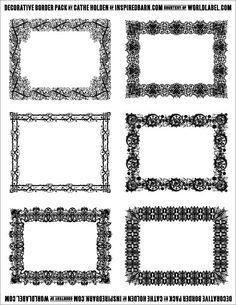 Fesselnd Free Decorative Border Pack Graphics By Cathe Holden | Worldlabel Blog