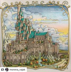 #Repost @morena_vajak with @repostapp ・・・ One of the most detailed pictures I've ever worked on and yet it was so much fun and so satisfying! Zemlja Snova by Tomislav Tomić - if you love this book and Tomislav's work join us in our FB group: Fans of Zemlja Snova (Land of Dreams) by Croatian artist Tomislav Tomić ❤⭐⭐⭐ #tomislavtomić #tomislavtomic #zemljasnova #landofdreams #croatiancoloringbook #coloring #colouring #coloring #bayan_boyan #enchantedcoloring #colorindolivrostop…
