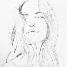 Blissful Thinking Original Pencil Drawing by Kim Legler