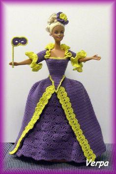 Crochet Barbie Patterns, Crochet Barbie Clothes, Doll Clothes, Doll Dresses, Pinocchio, Vintage Crochet, Barbie Dolls, Cinderella, Snow White