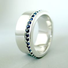 Blue Sapphire Ring 925 Sterling Silver Band For by 360Diamonds