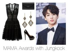 A fashion look from December 2016 featuring elie saab dresses, black patent leather pumps and purse clutches. Browse and shop related looks. Dressy Outfits, Simple Outfits, Cute Outfits, Kpop Fashion Outfits, Korean Outfits, Teenager Outfits, Girl Outfits, Bts Mode, Mama Awards