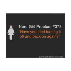 """Nerd Girl Problem - if you get this, you win. Except the """"back"""" shouldn't really be in there."""
