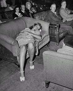 Partied out, 1940s style.