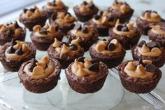 Mini Peanut Butter Brownies