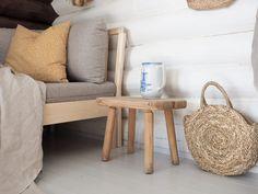 Hirsimökin muodonmuutos: saunatupa | SLIIK Hygge, Throw Pillows, Bed, Summer, Toss Pillows, Summer Time, Cushions, Stream Bed, Decorative Pillows