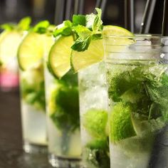 Alcoholic cocktail Mojito enjoys great popularity today, especially at parties. Very easy to make this invigorating and refreshing homemade Mojito.