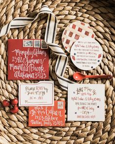 red + white invitation | Berrett Photography #wedding