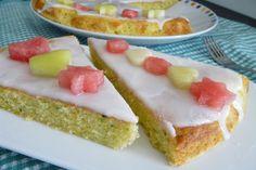 Cuketový koláč s citrónovou polevou