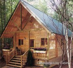 Anyone with basic carpentry skills can construct this classic one-room cozy cabin.