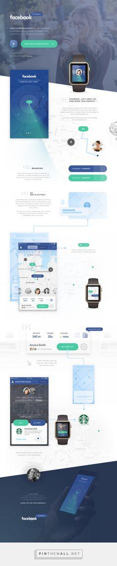Concept App - Facebook: Let's meet up! on Behance - created via https://pinthemall.net