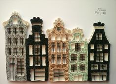 Quilled house in Amsterdam, quilling by Tihana Poljak