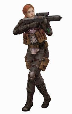 Female Alliance Trooper