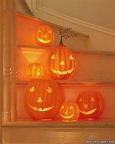 Need to make, Papier-Mache Pumpkins via Martha Stewart