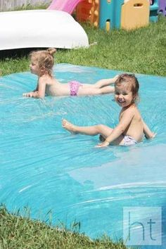 Make a giant outdoor water bed for the kids.   51 Budget Backyard DIYs That Are Borderline Genius