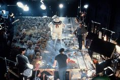 Behind the scenes picture from the making ofGhostbusters: