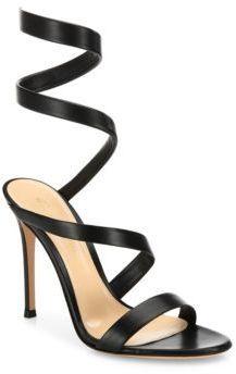 Gianvito Rossi Opera Leather Wraparound Sandals