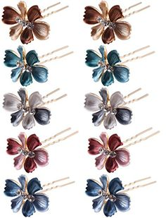 (Pack of 12 Pcs) LiveZone Beautiful Bride Wedding Hair Ornaments Maker Colorful Headdress U Shaped Bobby Pins Rhinestones Hair Pins Stick Forks with Flowers Shape for Women Girls Hair Ornaments, Forks, Headdress, Beautiful Bride, Hair Pins, Wedding Bride, Rhinestones, Bobby Pins, Wedding Hairstyles