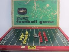 Before modern electronic games, this was one of the earliest clever designs that captured football fans completely! Vintage Tudor #ElectricFootball Game Early 1940's - 50's Works Great, See VIDEO