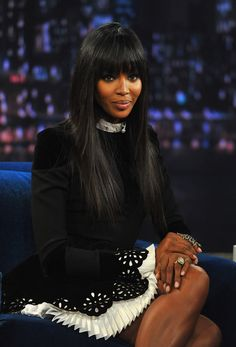 Naomi Campbell in Alexander McQueen at Late Night With Jimmy Fallon 2013
