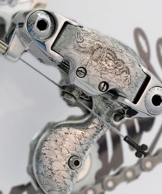 the spanish-based vintage luxury bicycles brand specializes in bespoke, chrome-engraved bicycles featuring traditional japanese art. Mountain Bike Store, Mountain Biking, Bicycle Art, Bicycle Design, Shoes For Less, Bicycle Brands, Road Bike Women, Bicycle Maintenance, Survival Tips