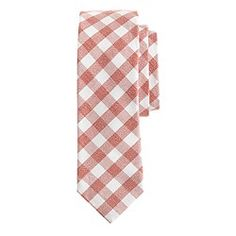 Textured cotton tie in gingham