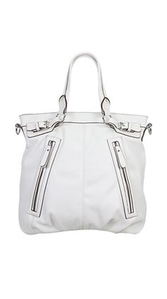 Connor Double Front Zipper Bag, not a fan of white bags, but this one is cute