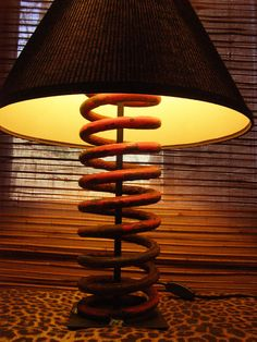 lamp from tractor spring :)