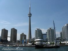 The #CNTour in #Toronto from a boat tour on #LakeOntario
