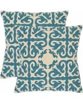 Safavieh Pillow Collection Throw Pillows 22 by Moroccan Blue Rain Set of 2 *** Visit the image link more details. Teal Pillows, Accent Pillows, Couch Pillows, Kilim Pillows, Seat Cushions, Moise, Antique Tiles, Textiles, Blue Rain
