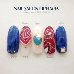 Bandana Nails, Cool Nail Art, Life Is Beautiful, Paisley, Nail Designs, Gemstone Rings, Beauty Stuff, Manicures, Gemstones