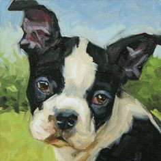 Custom Pet Portrait from your photo, 8x8 or 8x10 oil painting. $135.00, via Etsy.