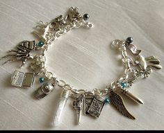 Supernatural Dean Winchester Charm Bracelet Jensen by LifesTrail, $25.00