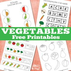 Vegetables Printables (free; from Itsy Bitsy Fun)