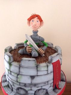 Justin and the Knights of Valour cake by Zoe Smith Bluebird-cakes/ Wintersgatebakery   Facebook.com/wintersgate