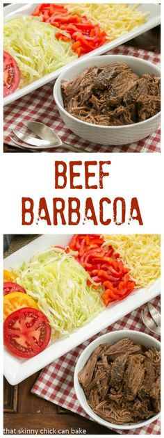 Lower Excess Fat Rooster Recipes That Basically Prime Beef Barbacoa Amazing Barbecue Beef In The Slow Cooker Lizzydo Fun Easy Recipes, Healthy Dinner Recipes, Mexican Food Recipes, Healthy Meals, Delicious Recipes, Healthy Food, Slow Cooker Beef, Slow Cooker Recipes, Beef Recipes