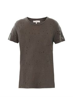 Clay hole distressed T-shirt | Iro | MATCHESFASHION.COM well..I saw Kylie Jenner wearing one..