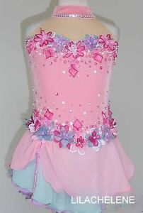 Ice/Roller Figure Skating Dress/Baton Twirling outfit/Tap leotard Made to Fit | eBay Figure Skating Competition Dresses, Figure Skating Outfits, Figure Skating Costumes, Figure Skating Dresses, Dance Moms Costumes, Dance Outfits, Gymnastics Leotards, Types Of Dresses, Stunning Dresses
