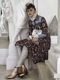 Sabina Lobova by David Dunan for Vogue Italia October 2015 | The Fashionography