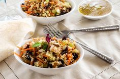 Honey Mustard Quinoa Salad (dried cranberries, celery ribs, dijon mustard, vinegar) | wendy polisi