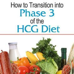 My Triumph: How to Transition into Phase 3 of the HCG Diet. Week by week of the first 3, slow addition example