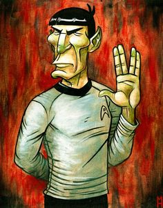 The Opposite of Spock the Vulcan is the iLlogical Creative. You Can't Be Creative When You Are Logical All the Time. I like Caricature Artists. They See Iconic Features the Rest of Us Are Blind To and Exaggerate It So All of Us Can See.