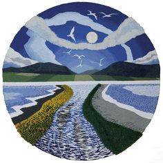 Tapestry Art Print: 'All paths lead home' Leila Thomson - Just bought a print of this from Hoxa, absolutely beautiful!